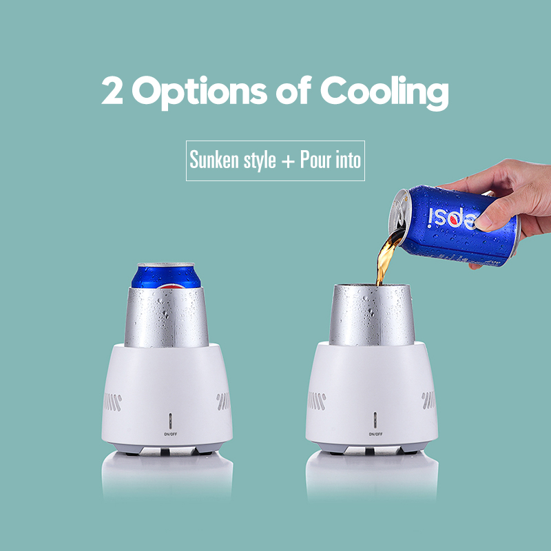 Quick Cooling Cup Instant Cooling Cup Holder Home Office Cold Drink Machine Car Mug Cup Refrigerator Quick Aluminium Cooler