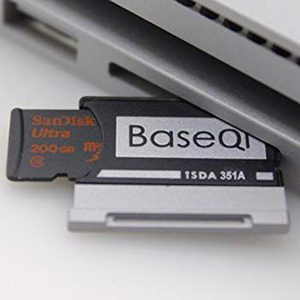 "Image 3 - BaseQi Adaptador de aluminio para superficie de portátil, 2 unidades, 15 "", MiniDrive pro duo, para macbook air, pcmcia, montaje de tarjeta ssd"