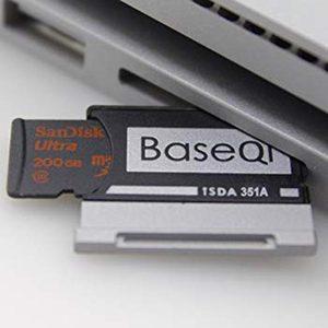 """Image 3 - BaseQi Aluminium Voor Microsoft Oppervlak Boek 2 15 """"MiniDrive memory stick pro duo adapter Voor macbook air pcmcia kaart mount ssd"""