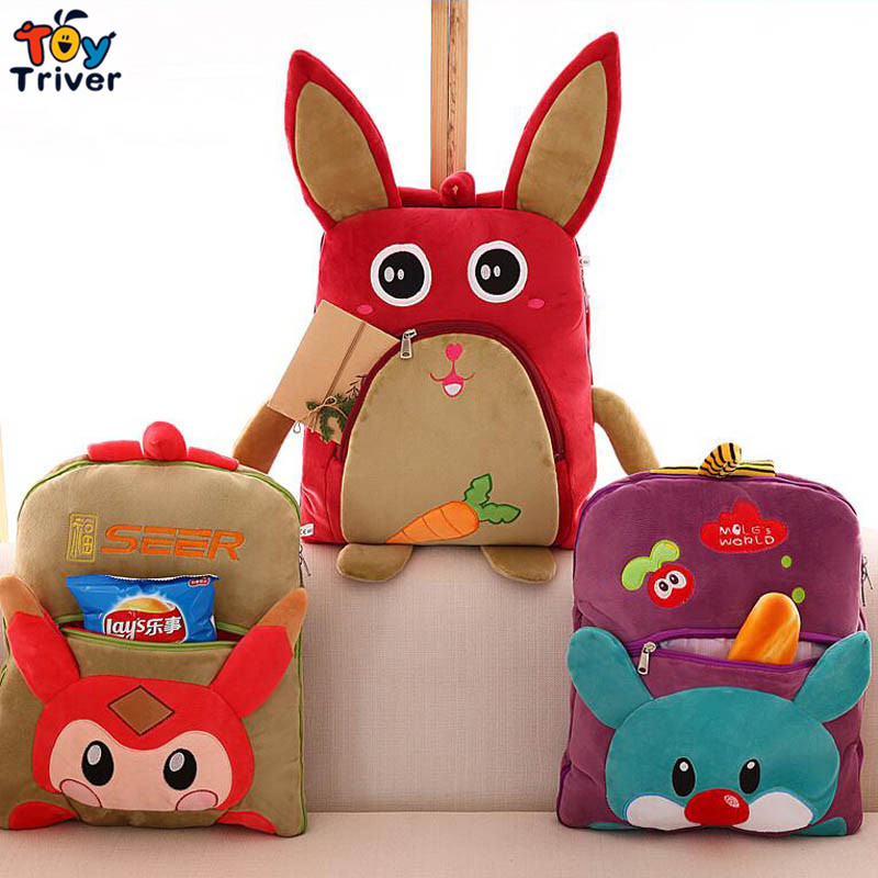 Cartoon owl rabbit bear fox carpet portable blanket reelable baby shower car Air condition travel rug doll Triver <font><b>Toy</b></font>