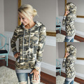 2016 Fashion Women Camouflage Hoodies Autum Casual Sweatshirts 100% Cotton Sudadera Fleece Hooded Full Sleeve Hoody Outwear