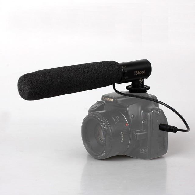 PL-MIC01 DC DV Microphone MIC for Canon 5DII Nikon 600D Sony A99 Pentax Camera