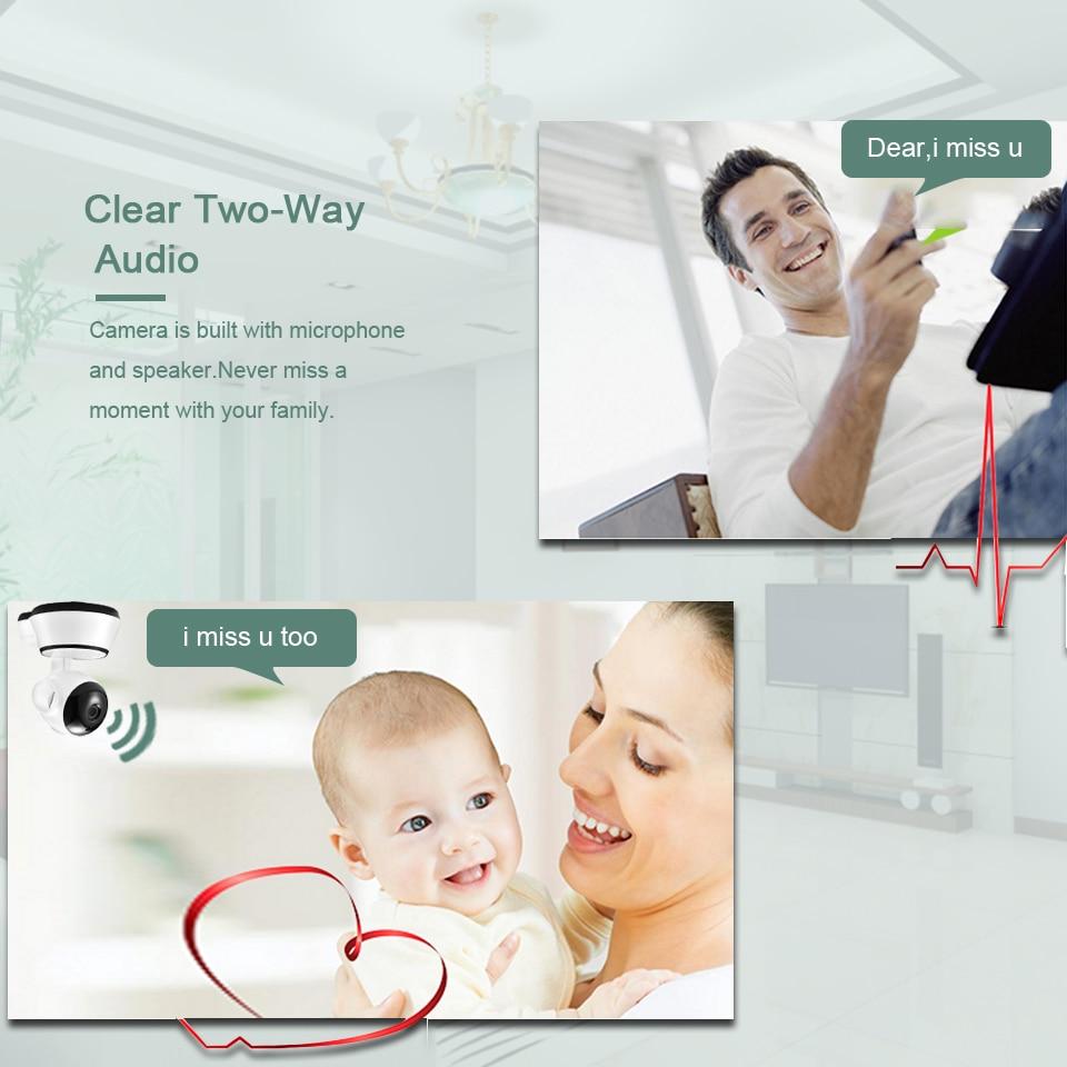 BESDER Home Security IP Camera Wireless Smart WiFi Camera WI-FI Audio Record Surveillance Baby Monitor HD Mini CCTV Camera iCSee 3