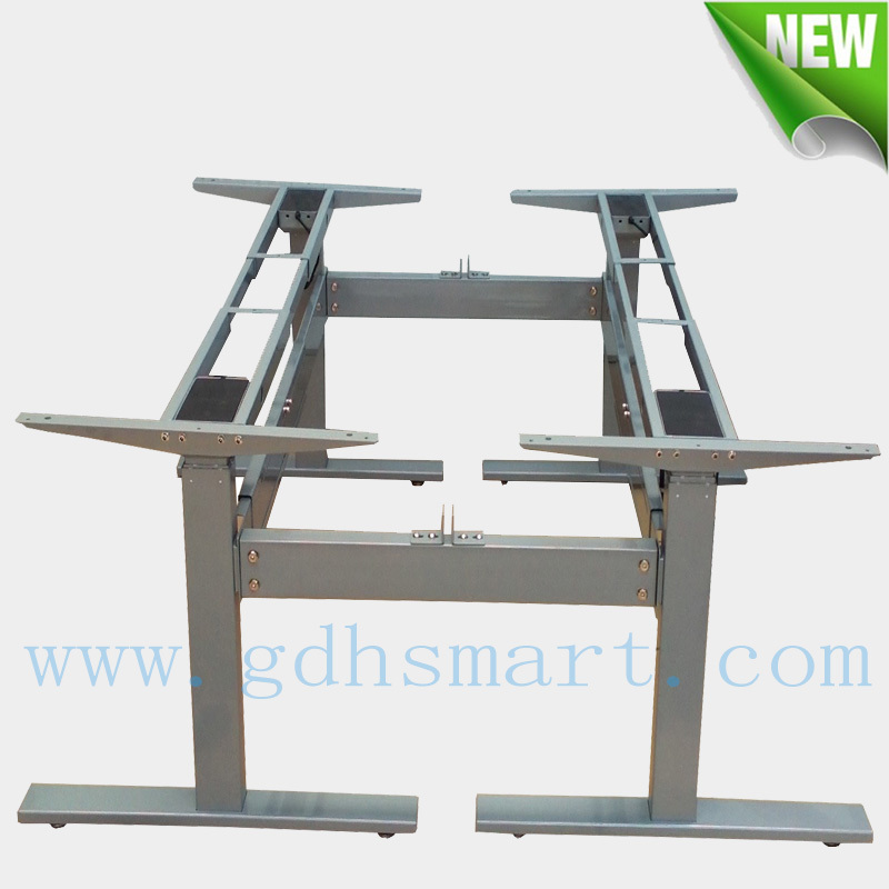 2 Seat Intelligent Height Adjustable Desk With Electric Lifting Columns U0026  Adjustable Metal Frame With Electric ...