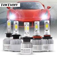 Taitian 2Pcs 72W 8000LM COB 6500K 12V Super White H7 Turbo Led H4 Auto H1 Bulb