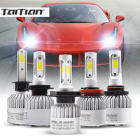 Taitian 2Pcs 72W 8000LM COB 6500K 12V Super White H7 Turbo Led H4 Auto H1 Bulb