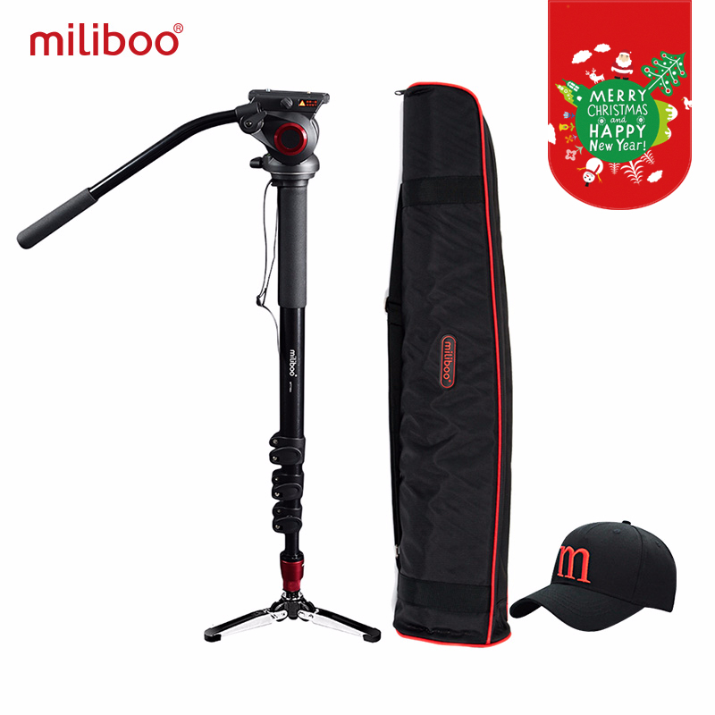 "miliboo MTT705A Aluminiu portabil Fluid Cap camera Monopod pentru camera video / DSLR Stativ Profesionale Trepied video 72 ""Max Inaltime"
