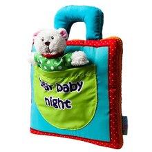 Brinquedos educativos do bebê urso sono do bebê noite infantil crianças desenvolvimento precoce pano livros estilo 3d aprendizagem desdobramento livro de atividade