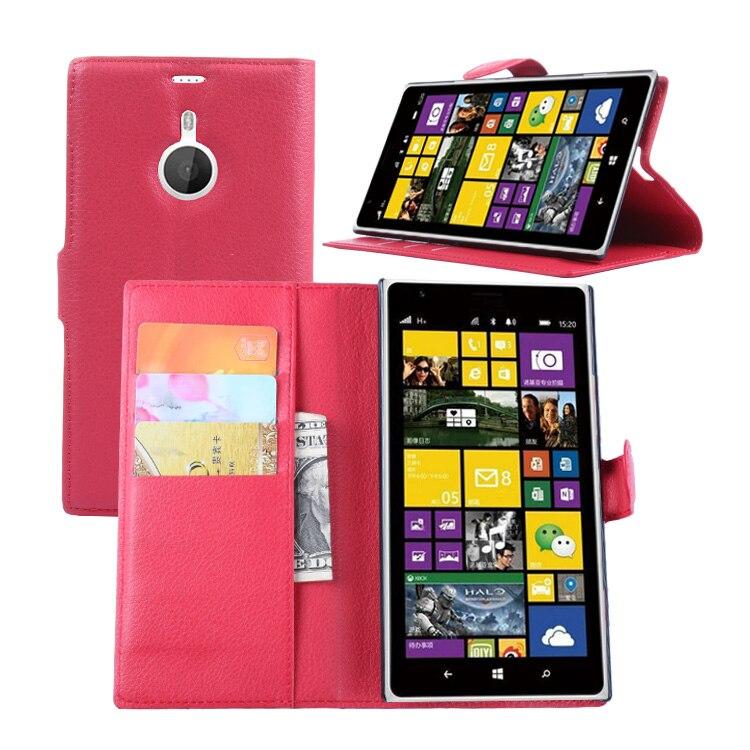 Флип кожаный чехол для Nokia Lumia 1520 Mars бумажник карты стент Чехол Личи узор защитную крышку черный N1520 nokia1520 Lumia1520 ...