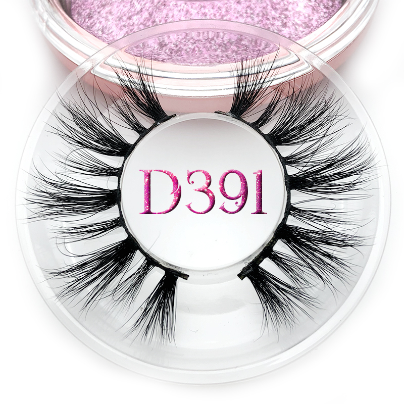 Mikiwi D391 Mink Eyelashes 3D Mink Lashes Thick HandMade Full Strip Lashes Rose Gold Cruelty Free Luxury Makeup Dramatic Lashes
