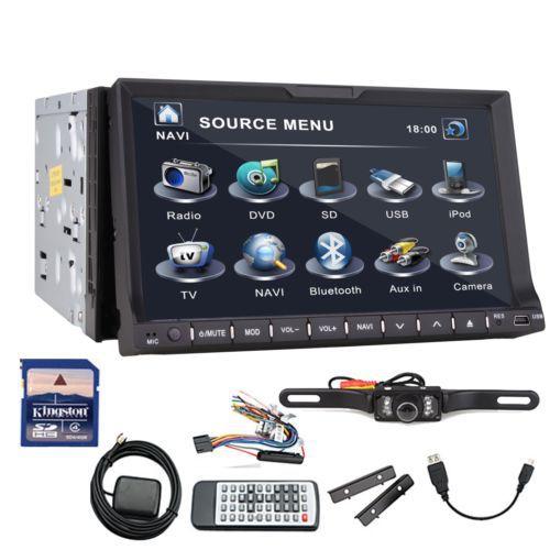 7 Gps Navigation Double 2din Car Stereo Hd Touchscreen Deck Car Dvd