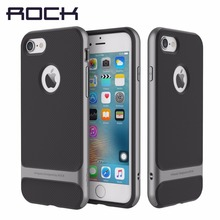 Rock оригинальный Royce чехол для iPhone 7 Чехол новинка 2016 года Гибридный Люкс ПК ТПУ задняя крышка для iPhone7/7 Plus SLIM ARMOR shell