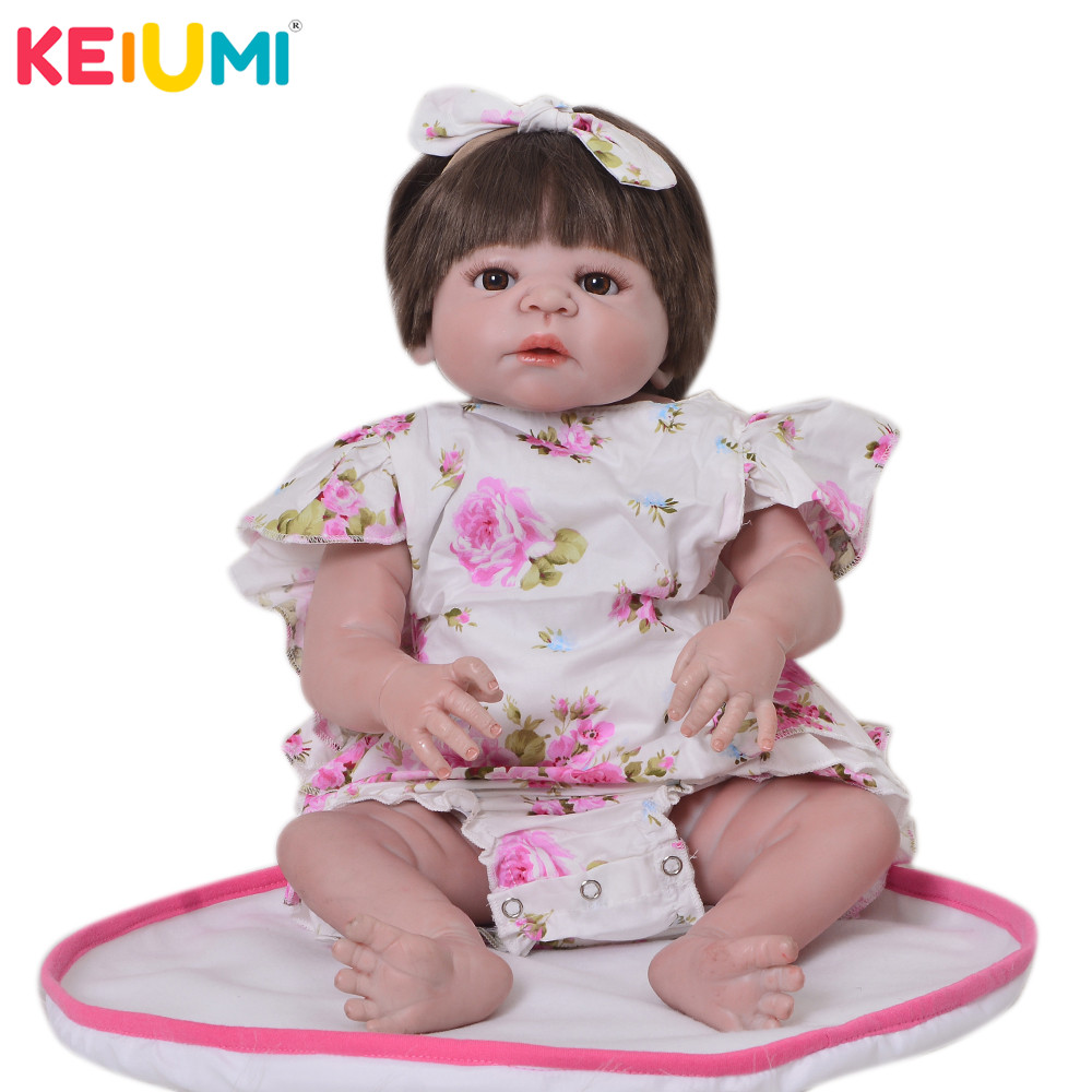 Hot Sale 2018 Boneca Reborn Playmates Lifelike Dolls Reborn Babies Full Silicone Vinyl Girl Baby Toys For Best Birthday Gifts-in Dolls from Toys & Hobbies    1