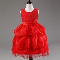 3-7 t Girls Summer Princess Dress Lace Rose Party tutu Ball Gown Girl Dresses Host Show Dance Costume Opera Queen Bridesmaid Kid