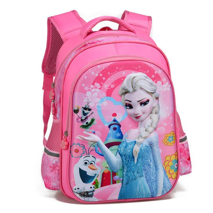 New Fashion Princess Backpack Orthopedics School Bags For Kids Girls Children Elementary Primary School Book Bag