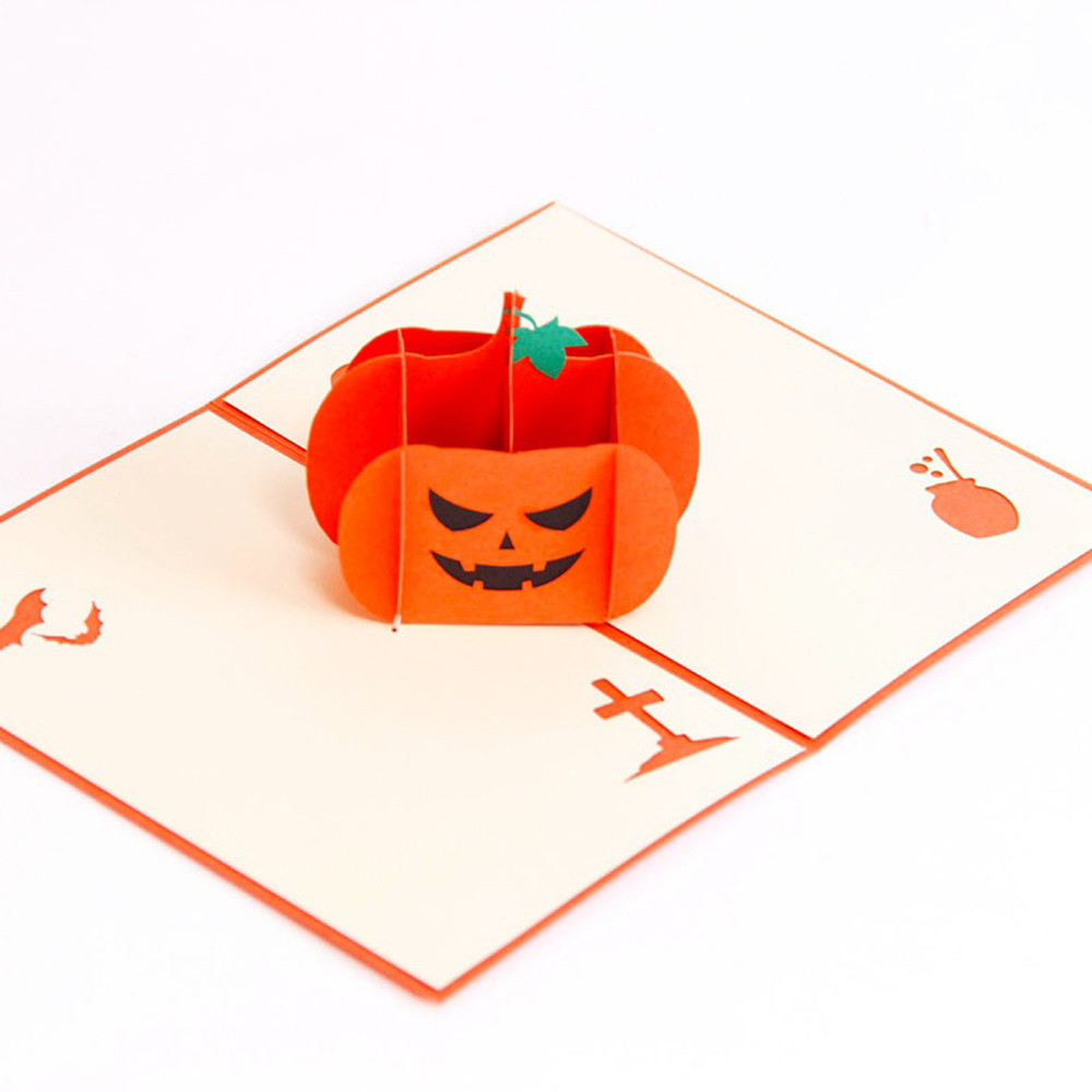 Halloween Cards Surprise 3d Pop Up Greeting Cards Funny Pumpkin