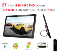 27 Inch Smart Digital Signage Display Android5 1 Quad Core 2GB DDR3 16GB Nand 1 8Ghz