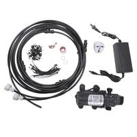 12V 5L/Min Misting Pump 160 Psi High Pressure Booster Diaphragm Water Pump Sprayer For Outdoor Cooling System Us Plug