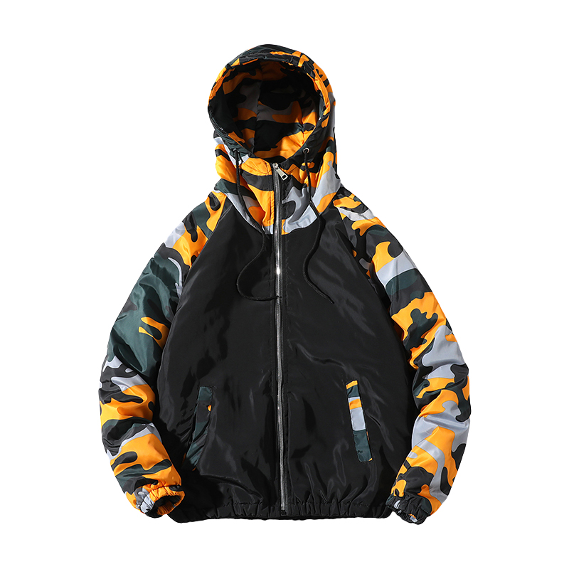 Lusumily Hooded   Basic     Jackets   Women Spring Autumn Causal Camouflage Windbreaker Zipper Lightweight Bomber   Jackets   Famale Coat