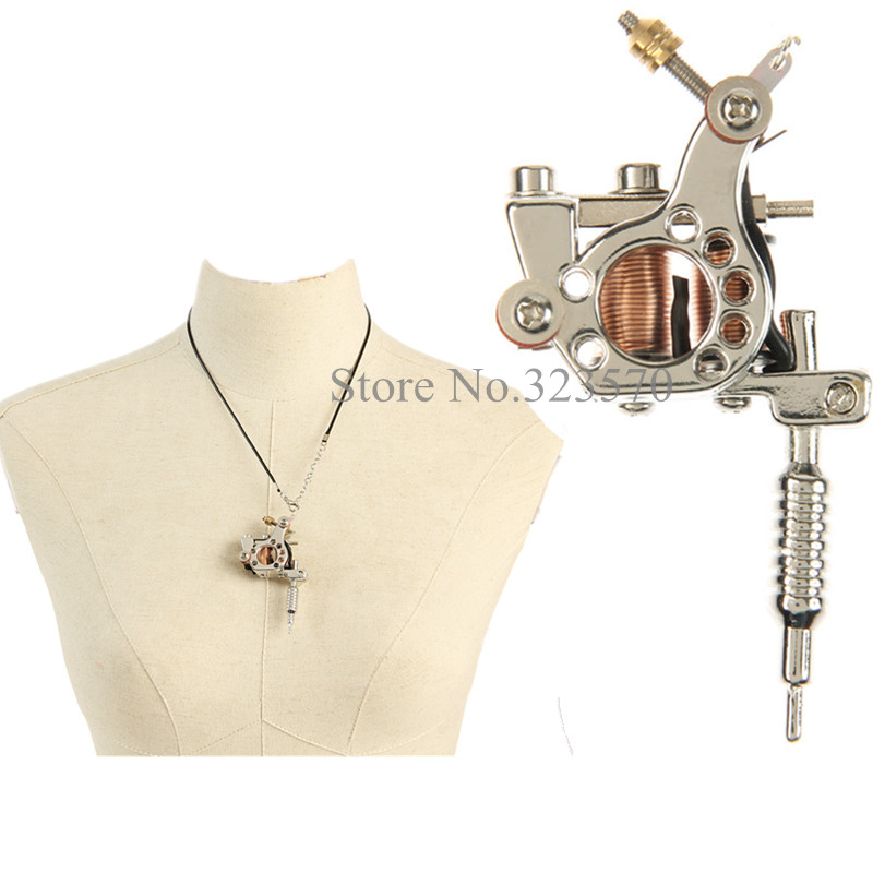 Hot sale fashion silver mini gun tattoo machine pendant toy with hot sale fashion silver mini gun tattoo machine pendant toy with chain ornament supply tm 602s in tattoo guns from beauty health on aliexpress aloadofball Image collections