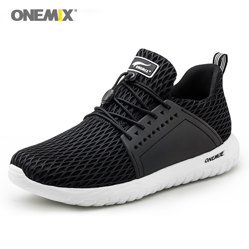 ONEMIX men sport sneakers breathable running shoes outdoor cool jogging shoes for women soft Deodorant insoles durable rubber