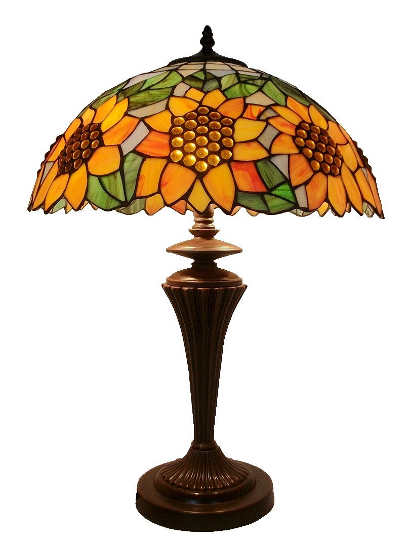 16 inch sunflower lamp Tiffany lamps bedroom lamps American Pastoral bedside stained glass lampDecorations for manual welding