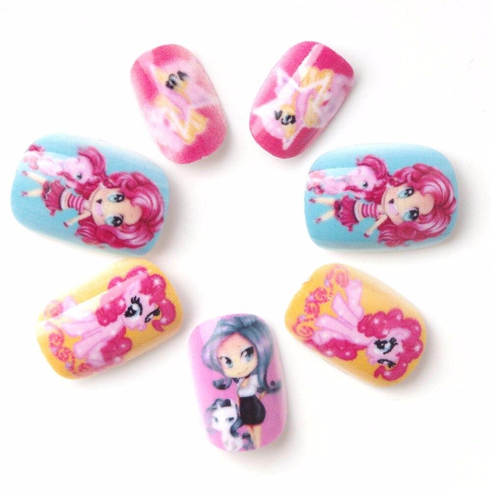 Online Shop New 24 pieces Frozen Children Fake Nails Fashion Cute ...
