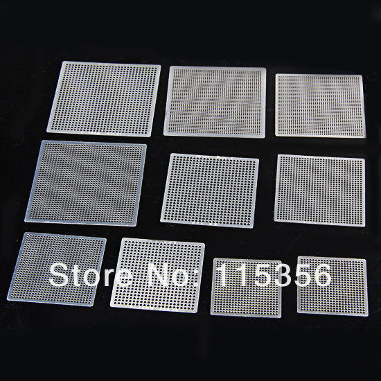 free shipping New completely set bga reballing kit 27pcs heat directly Universal BGA stencils chip template