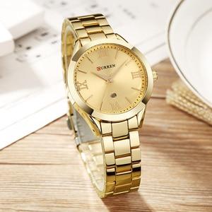 Image 4 - CURREN Rose Gold Watch Women Quartz Watches Ladies Top Brand Luxury Female Wrist Watch Girl Clock Relogio Feminino Saat 9007