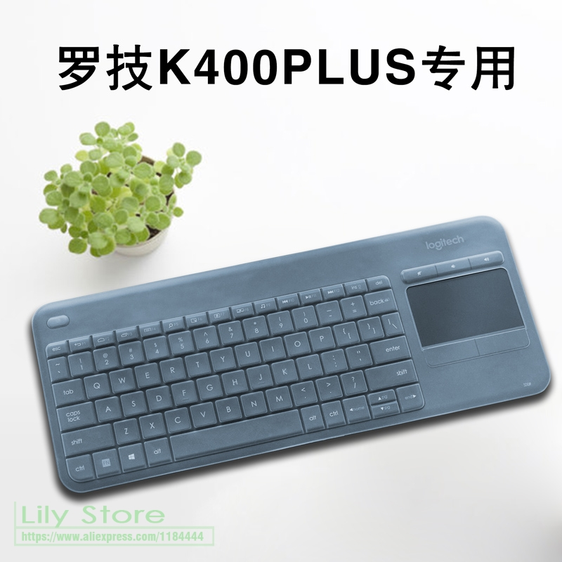 US $13 29 5% OFF|For Logitech K400 Plus Wireless Touch TV Keyboard Silicone  Dustproof mechanical Wireless Bluetooth keyboard Cover Protector-in