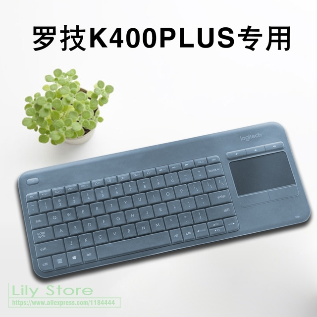 f9cfe34f92d For Logitech K400 Plus Wireless Touch TV Keyboard Silicone Dustproof  mechanical Wireless Bluetooth keyboard Cover Protector