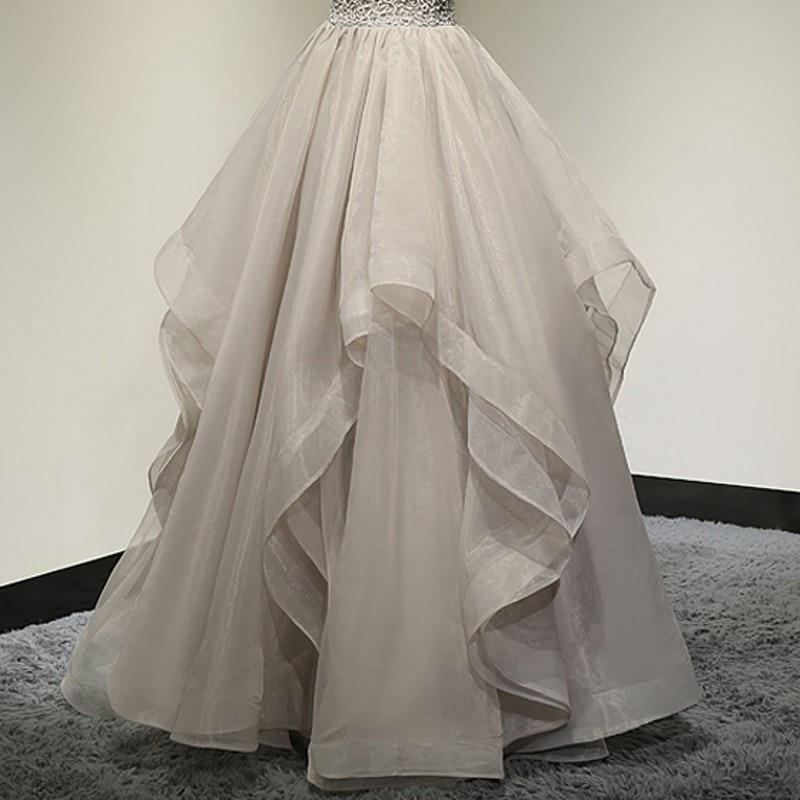 Dość elegancki Ruffles suknie balowe długie spódnica z organzy dla nowożeńców sesje zdjęciowe wykonane na zamówienie zamek kobiet Maxi spódnica Tutu Saias moda w Spódnice od Odzież damska na  Grupa 1