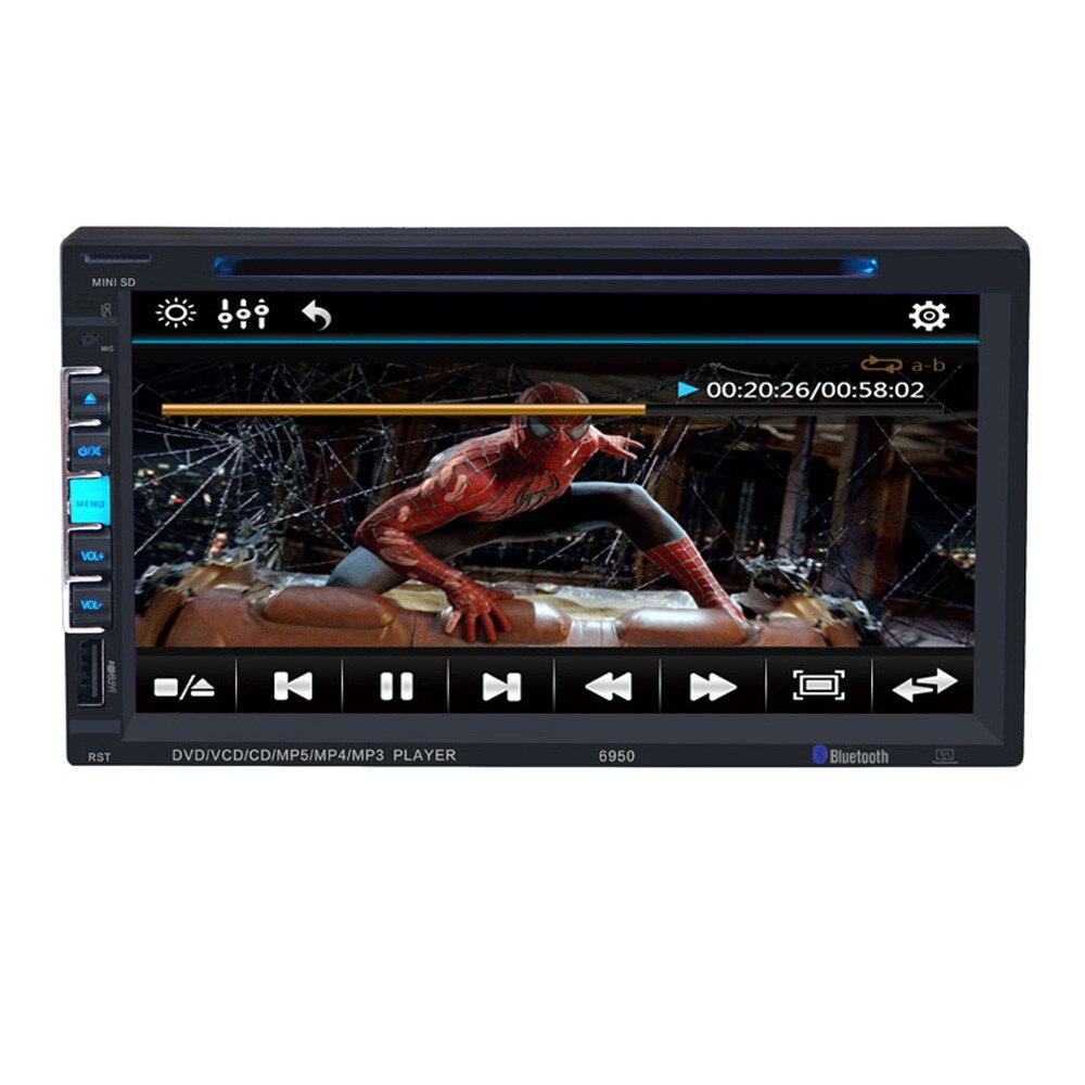 """""""2017 Новый 7"""""""" Сенсорный экран Bluetooth автомобиля стерео DVD/CD-диск/MP3-плеер двойной 2DIN в тире с USB SD и моды 17Dec8"""""""