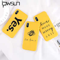 iPWSOO Phone Case For iPhone 6 6S 7 8 Plus X XR XS MAX Fashion Cartoon Cute Beard YES Letter Yellow Soft TPU Back Cover
