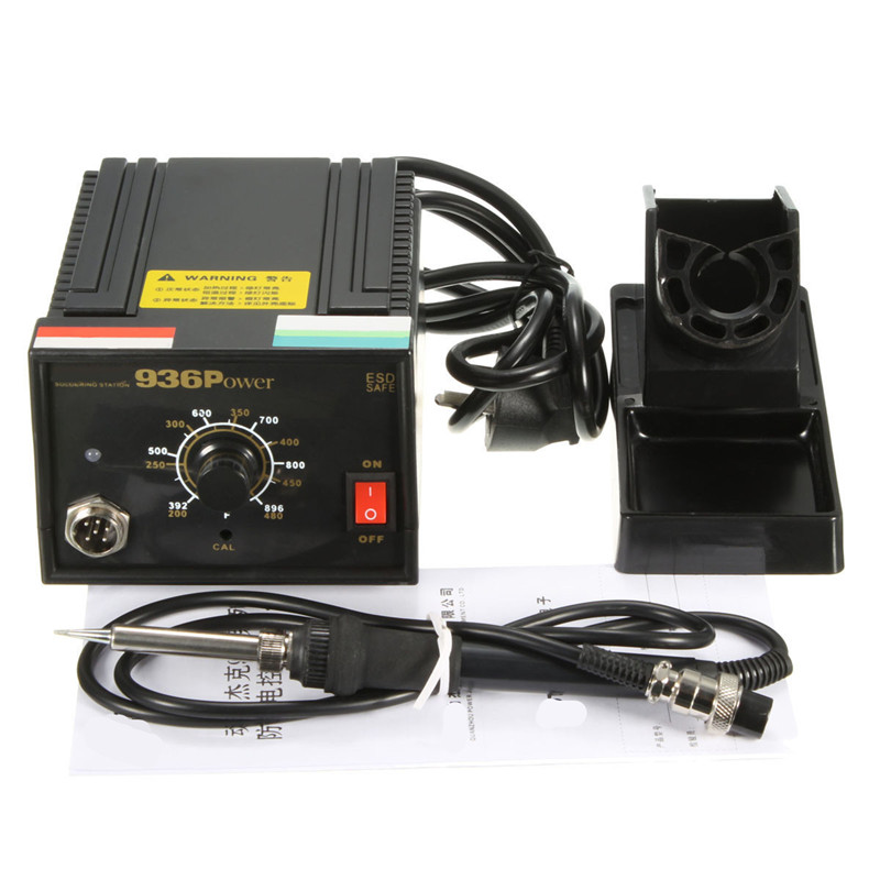 110V 220V Inverter Frequency Change Electric 936 Power Soldering Station Iron AU Plug 75W + Soldering Iron Handle esd safe 75w soldering handpiece t245a solder iron handle for di3000 intelligent soldering station