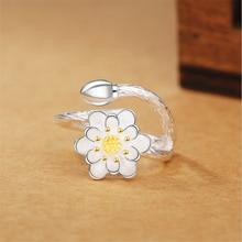 anel feminino Ethnic fashion style lotus bud gold finger ring 925 sterling sliver bridal sets wide large adjustable love KJZ0072