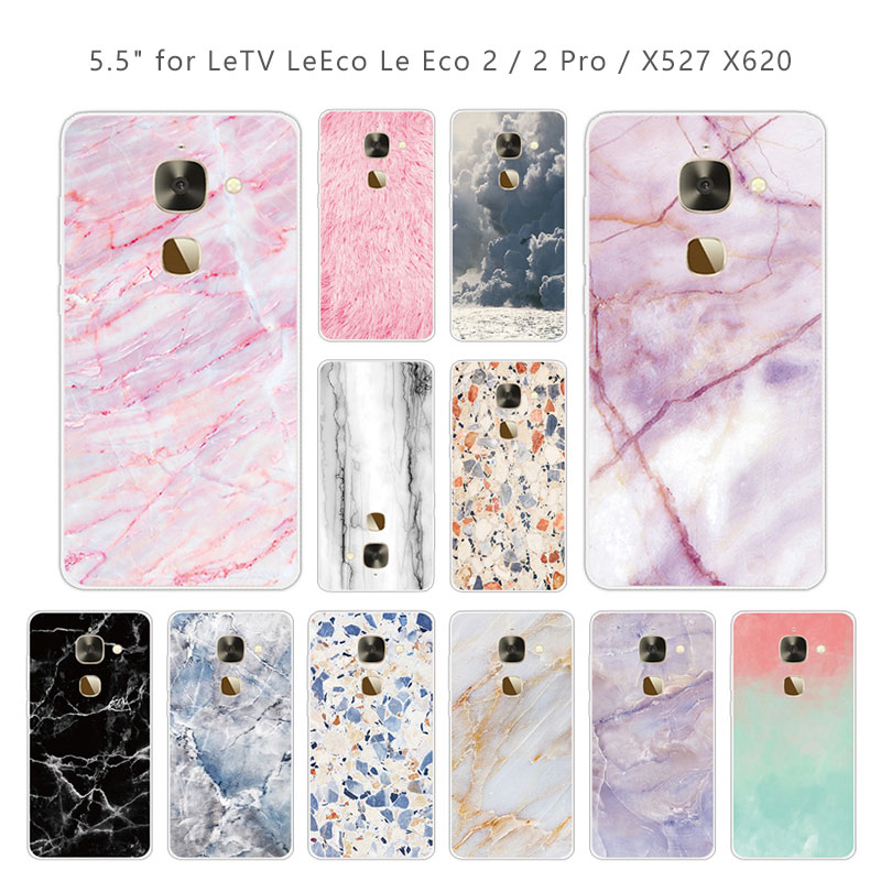 5.5 inch For Leeco Le 2 X527 Phone Cases Soft Clear TPU Stone Cover For Letv Le S3 X626 / Le 2 Le2 Pro X620 Slim Silicone Capa