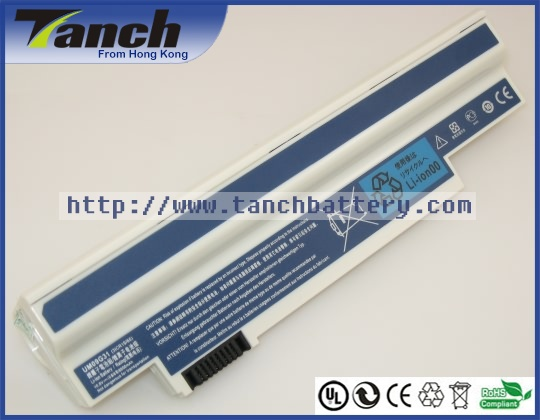 Laptop <font><b>batteries</b></font> for ACER UM09H31 UM09H75 UM09G51 UM09H56 Aspire One 532h-2Db One 532h-2588 LT2102 11.1V 9 cell image
