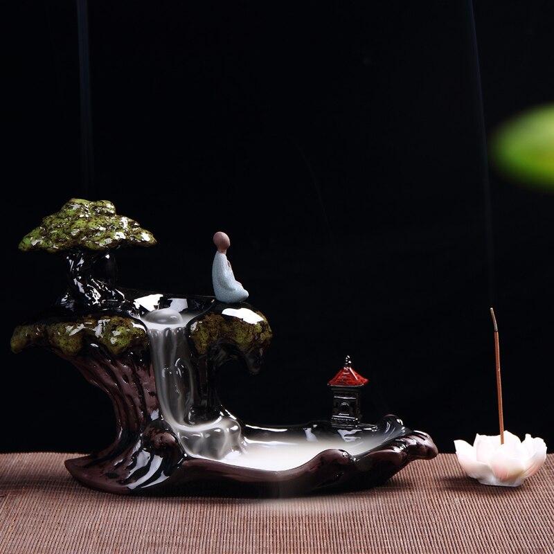 Brûleur créatif décor à la maison céramicl encensoir retour cônes d'encens brûleur bâton d'encens Holde Linetype bois de santal