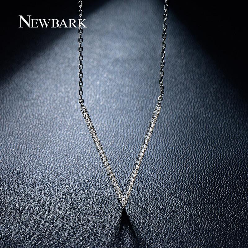 font b NEWBARK b font Newest V Letter Pendant font b Necklaces b font Top