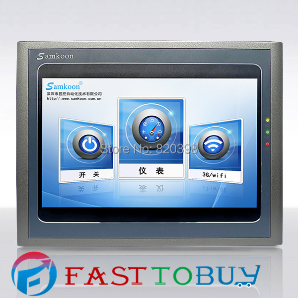 HMI 10.2 inch 800x480  Ethernet Android AK-102AS Samkoon New with USB  program download Cable