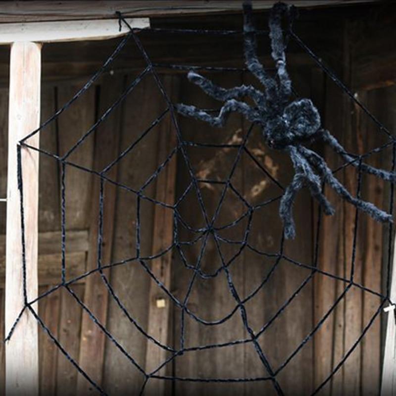 50cm90cm125cm black halloween spider 15m25m5cm balck