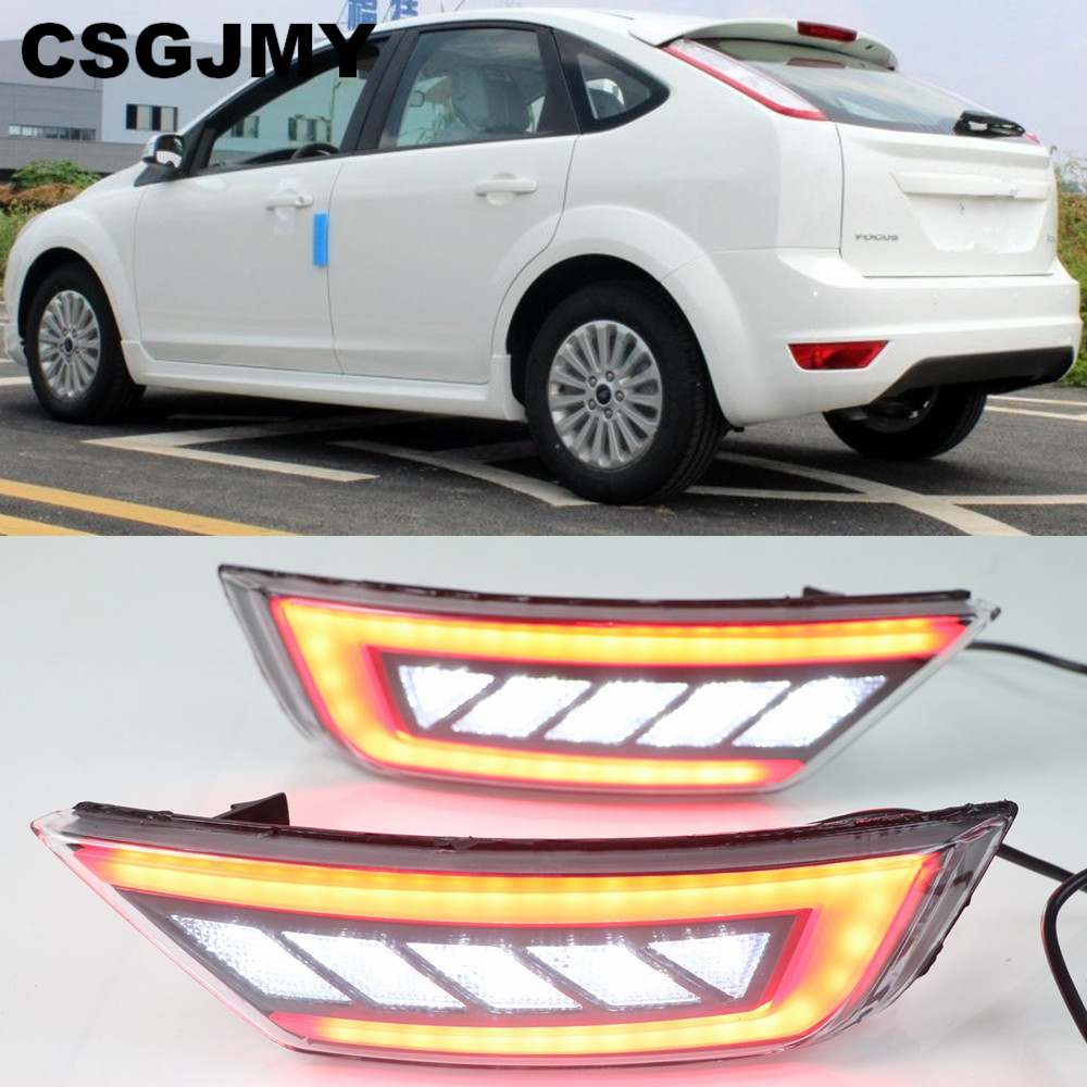 For Ford Focus Hatchback Classic 2009 2010 2011 2012 2013 Car Right Rear Bumper Reflector Lights