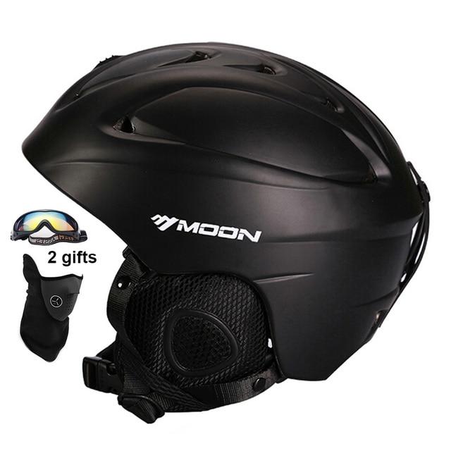 MOON Ski Helmet CE Certification Safety Skiing Helmet Integrally-molded Sking Snowboard Skateboard Helmet Size 52-64CM
