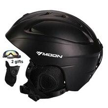 Esquí LUNA Casco Integralmente moldeado Casco de Esquí Snowboard Sking Seguridad Certificación CE Casco de Skate Tamaño 52-64 CM