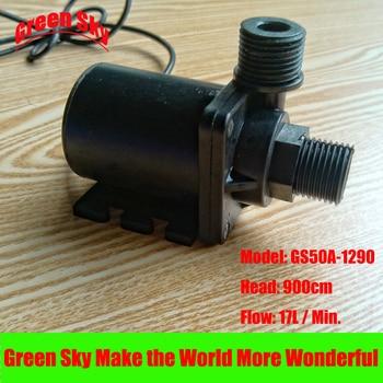 цена на 17L/Min 900cm Head 12V DC 42W Submersible fountain aquarium circulation brushless 12v hot water pump
