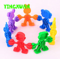 HAPPYXUAN 40pcs/pack Kids Plastic animals Blocks Educational Building Sets Creativity Toys for Kindergarten Baby