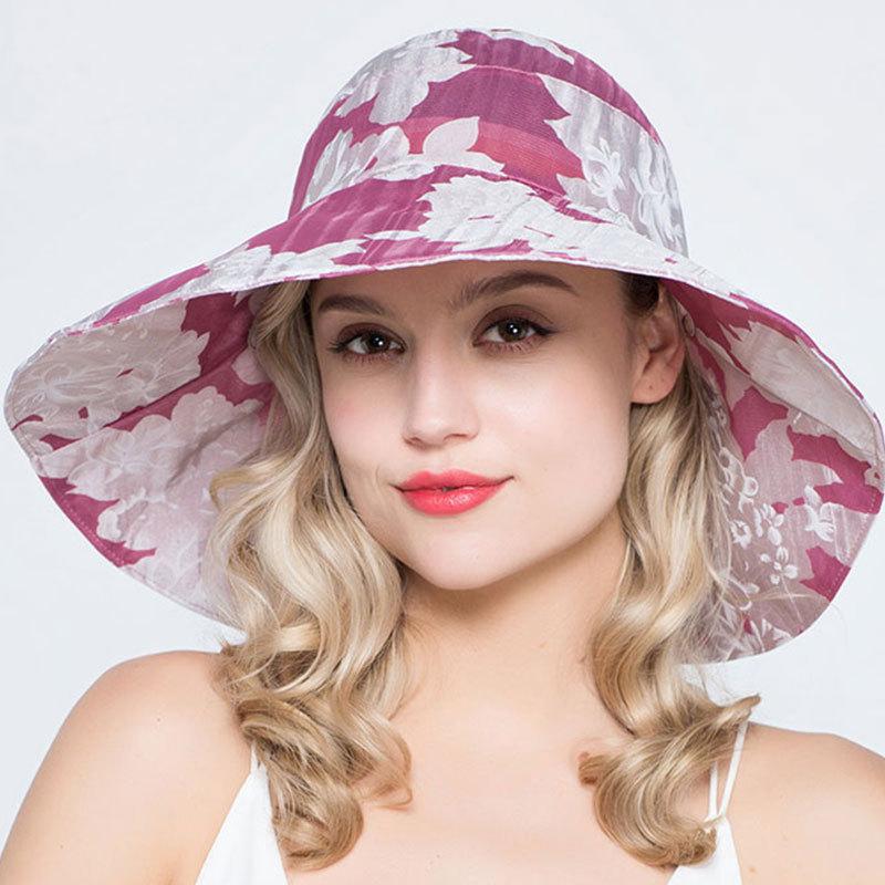 2018 Mode Frauen Sonnenhut Stroh Patch Rund Punkt Sommer Frauen Echte Seide Bowknot Sonne Hüte Bogen Breiter Krempe Kappen Dinge FüR Die Menschen Bequem Machen