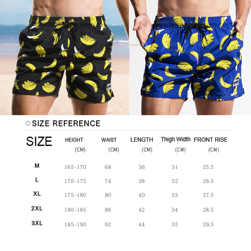 HIBUBBLE Cratoon BANANA Swimwear Men's Board Print Men's Swimming Trunks For Bathing Man Swimsuits Summer Beachwear Large Size