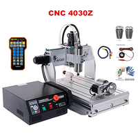 CNC engraving machine 4030Z 800W USB 4axis mach3 remote control support USB 2.0 wood cnc router